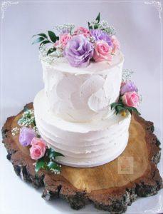 Tort ślubny z żywymi kwiatami - Hit tego sezonu ;-)